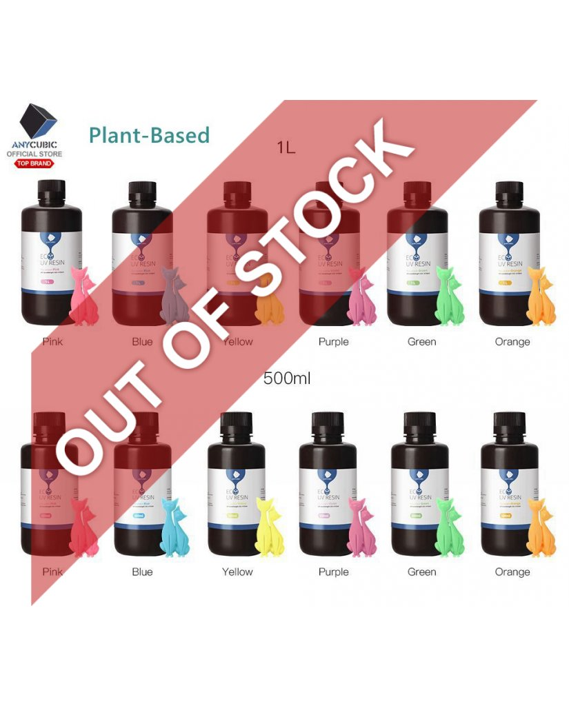 Anycubic Plant Based UV Resin 500ml/1L 410nm