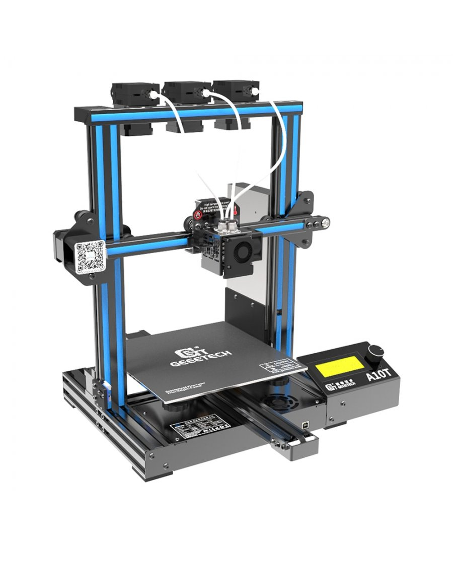 Geeetech A10T 3 in 1 Out Mix Color 3D Printer