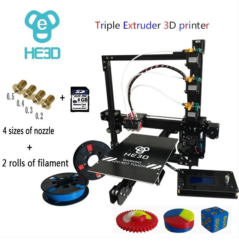 Ei3 triple extruder 3d printer