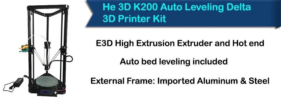 He 3D K200 Delta 3D Printer Kit