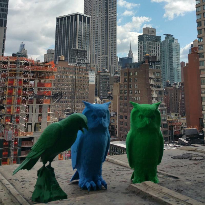 3d printed Raptor and Owl