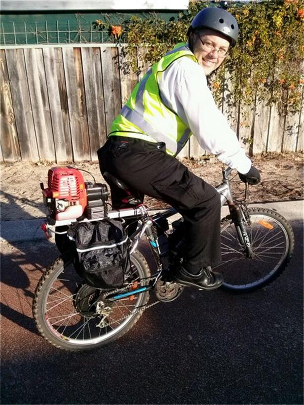 Hybrid petrol/electric bicycle