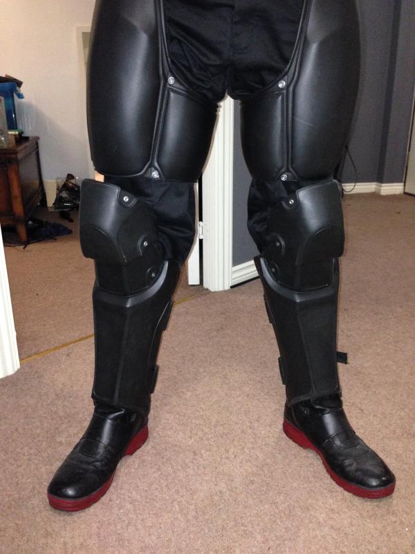 3d printed batman leg parts