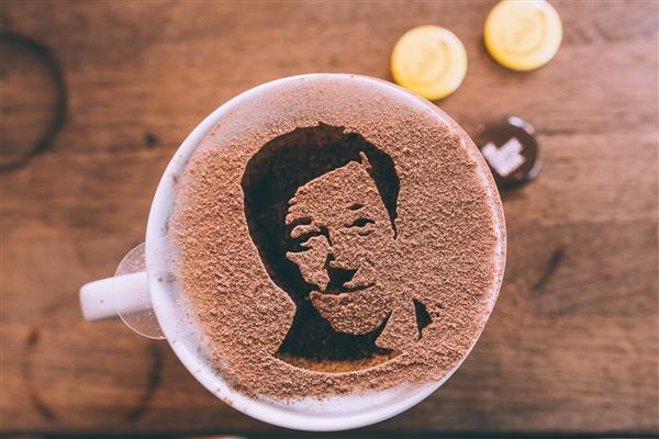3D printed coffee art
