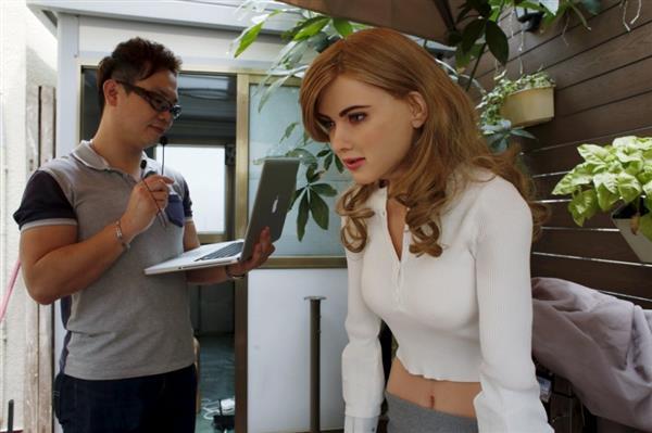 3D printed robot of Scarlett Johansson