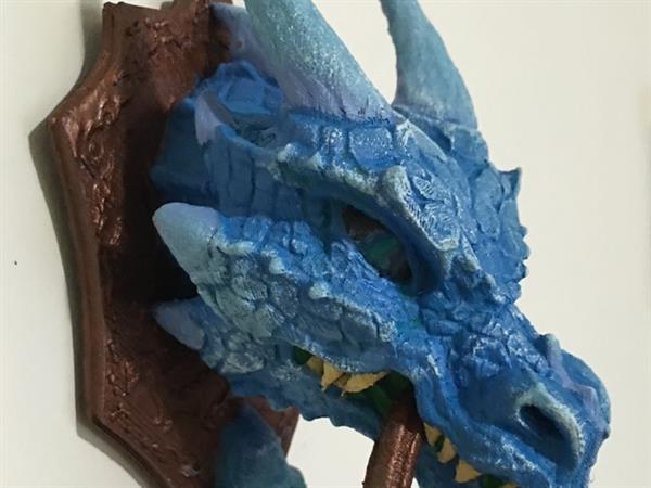 3D printed dragon door knocker