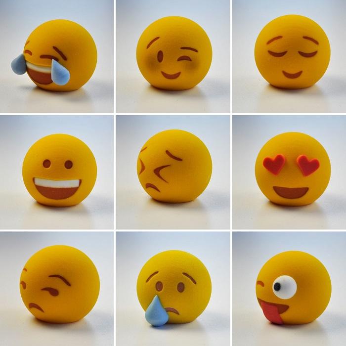 3d printed emojis